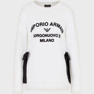 Borgonuovo XI sweatshirt with side bows