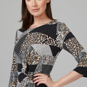 Leopard Patchwork Dress 201286