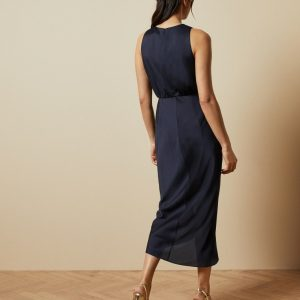 POHSHAN Keyhole detail midi dress