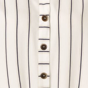 JUST WHITE - Striped Blouse