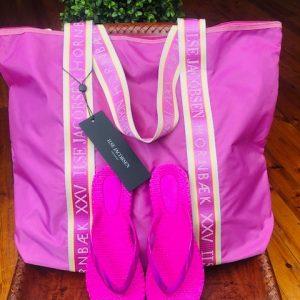 ILSE JACOBSEN - Purple/Pink Shopper Beach Bag