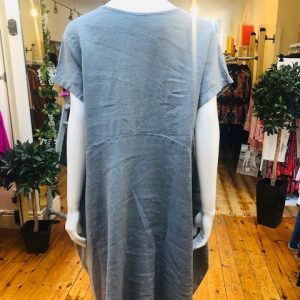 NEIRAMI - Grey Linen Dress