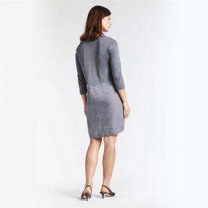 Linen Dress with Button Detail