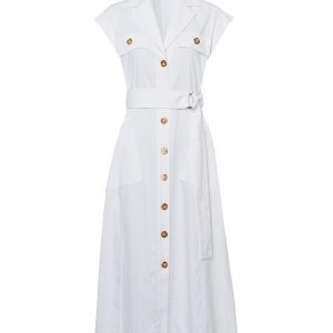 Twill Blouse Dress