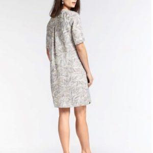 Linen Dress with organic print