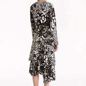 Moon Map Patterned Maxi Dress