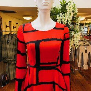 Dress Fiery Orange/Black Style no. 96563