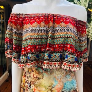 Frill Neck Maxi Dress
