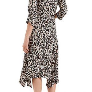 Midi Dress with Leopard Print