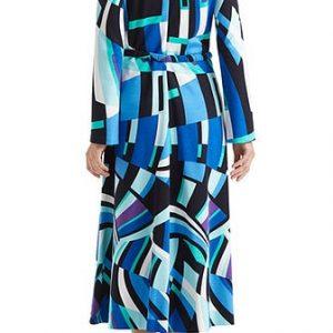 Long Dress Geometric Print