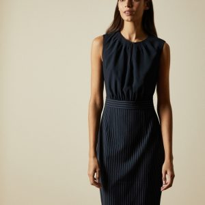 ANGILAD Dress with Stripe Skirt