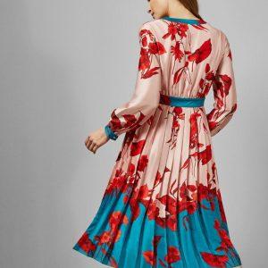 Ted Baker - Fantasia Bow Neck Midi Dress