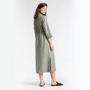 Sage Linen Maxi Dress