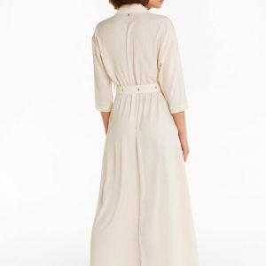 Long Belted Shirt Dress