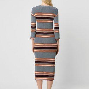 Tosca Stripe 3/4 Length Sleeve Dress