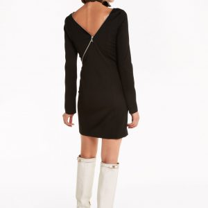 Zip-Up Mini Dress