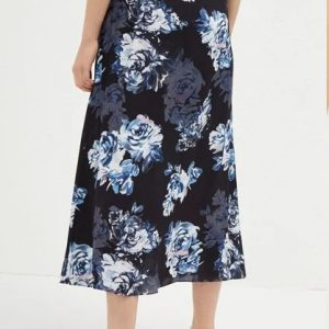 French Connection - Caterina Crepe Midi Wrap Skirt