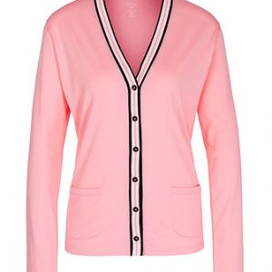 Cotton Cardigan in Charm Rose