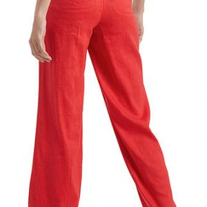 Stretch Pants in Linen Blend