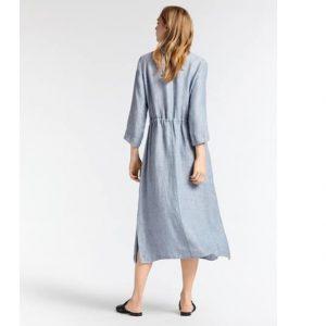 Melange Linen Maxi Dress