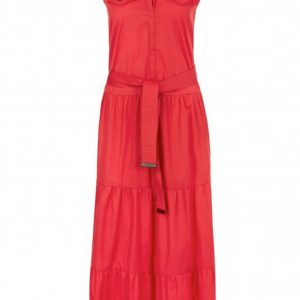 Candy Apple Red Cotton Maxi