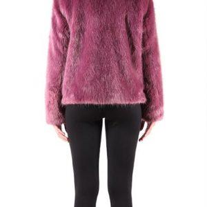 Rino & Pelle Purple Faux Fur Coat
