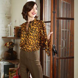 Leopard Blouse Style 193641