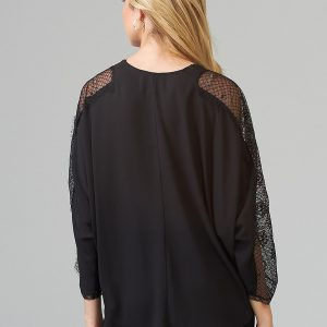 Lace Sleeve Blouse 203685