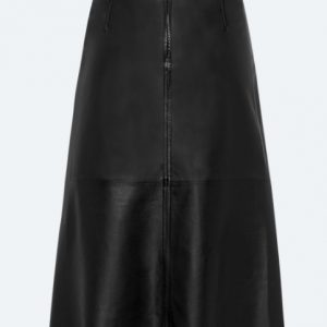 Leather Skirt with A-Line