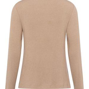 Wool Mixed Rib Jersey Top