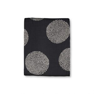 Black Dotted Along Scarf