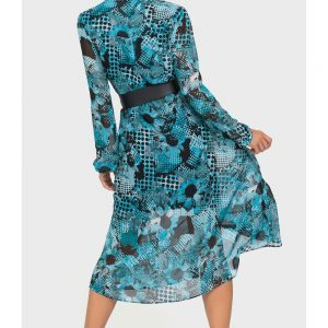 Abstract Print Dress Style 192608
