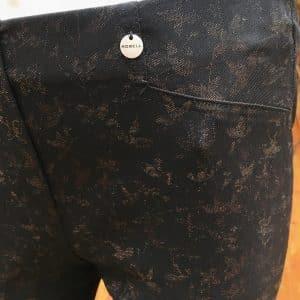 Rose Fit: Glitter Leaf Effect Trouser