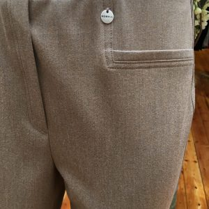 Jacklyn Fit: Taupe Trouser