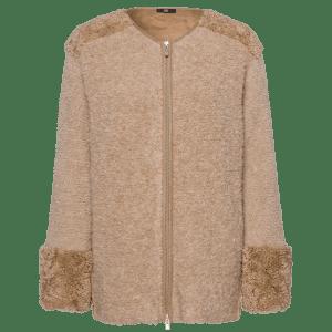 Latte Fur Detailed Jacket