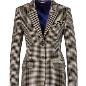 Pure Wool Checked Blazer