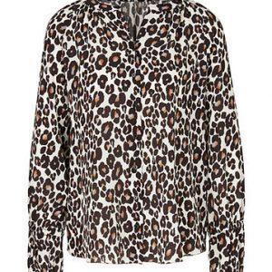Silk Leopard Print Blouse
