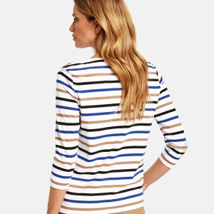 Striped 3/4-Sleeve top in Organic Cotton