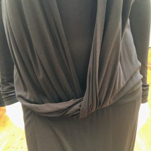 Chain Wrap-over Dress