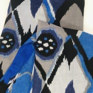 Cobalt Blue Geometric Scarf