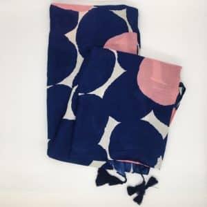 Blue/Pink Dot Scarf