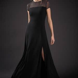 Shimmer Split Dress Style 184550