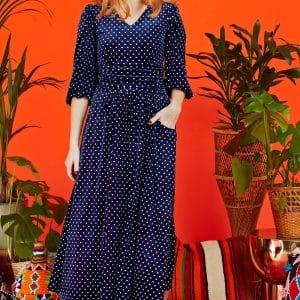 Esme Navy Velvet Dress