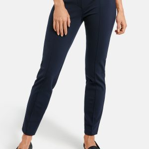 Navy Trouser with Seam Detail