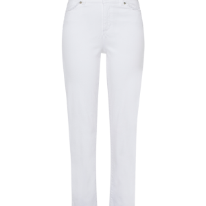White Jean with Frayed Hem