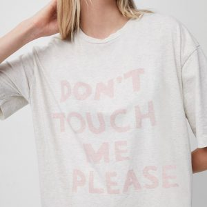Don't Touch Me Please Organic T-shirt