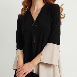 ¾ Sleeve Zip Tunic Style 204232