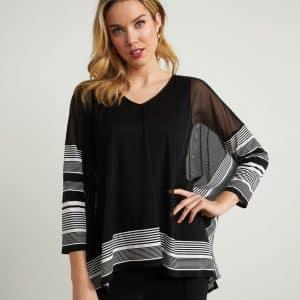 Striped Mesh Tunic Style 211287