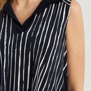 Striped Sleeveless Tunic Style 212088