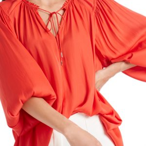 Pleated Flowing Blouse